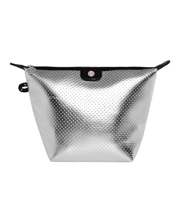 Cosmetics Bag Neoprene Silver