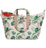 Kleine Shopper Palm Leaves roze