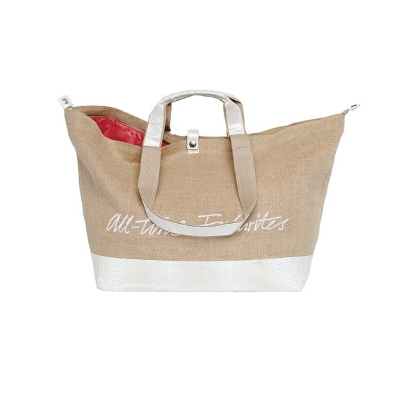 Kleine Shopper Jute Wit