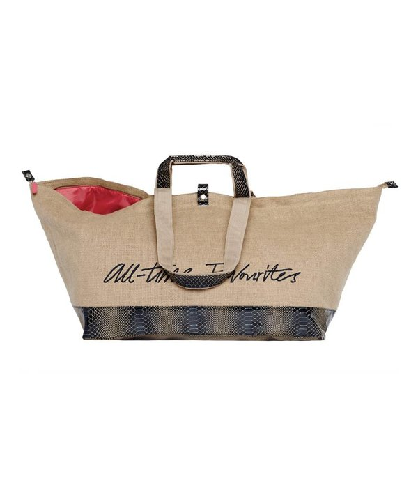 Grote Shopper Jute Navy