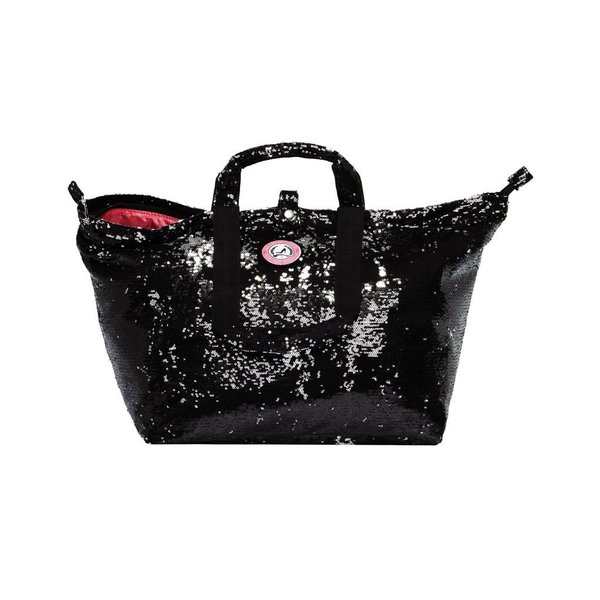 Small Shopper Sequins Black/Silver