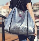 Kleine Shopper Neoprene Zilver