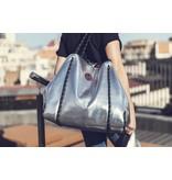 Small Shopper Neoprene Silver