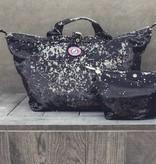 Small Shopper Sequins Black/Silver