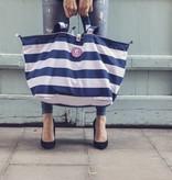 Kleine Shopper Stripes Navy