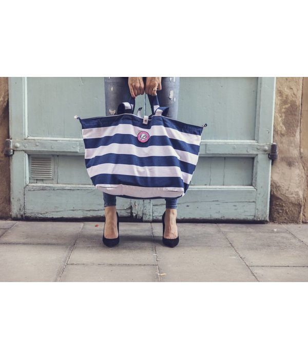 Small Shopper Stripes Navy