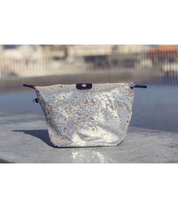 Cosmetics Bag Sequins Gold/Silver