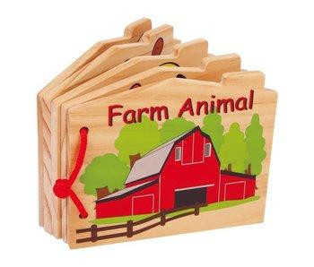 "Small Foot Baby Houten voel boek ""boerderij"""