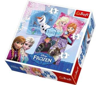 Trefl Frozen 3 in 1 Puzzel