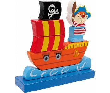 """Small Foot Steekspel """"Piratenschip"""""""