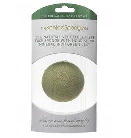 Konjac Sponge Premium Gesichts Puff Französischem Grünem Ton