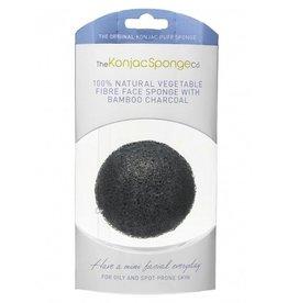 Konjac Sponge Premium Gesichts Puff Bambuskohle