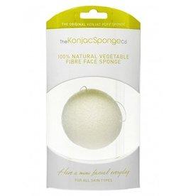 Konjac Sponge Premium Gesichts Puff Pure White