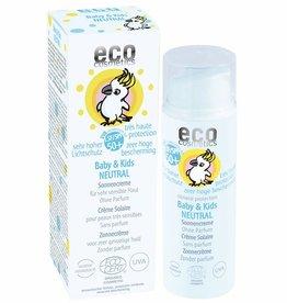 Eco Cosmetics Baby & Kids SPF50 Crème Solaire sans parfum