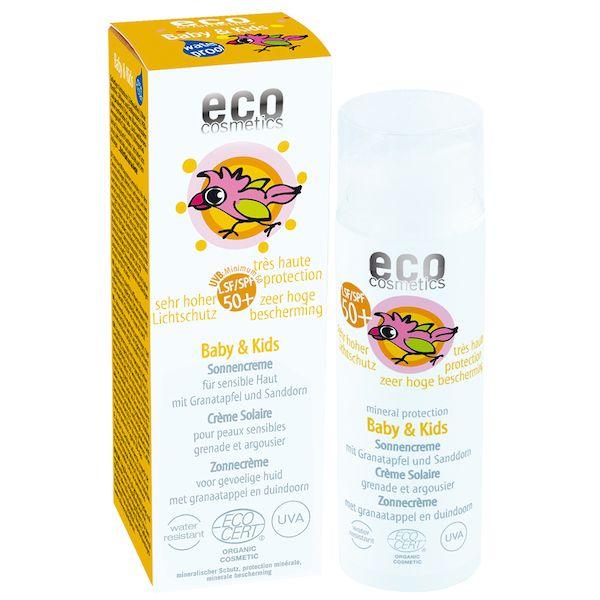 Eco Cosmetics Eco Cosmetics Baby & Kinder Sonnenschutz creme SPF50 +