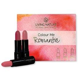 Living Nature Lipstick Set Colour Me Romantic
