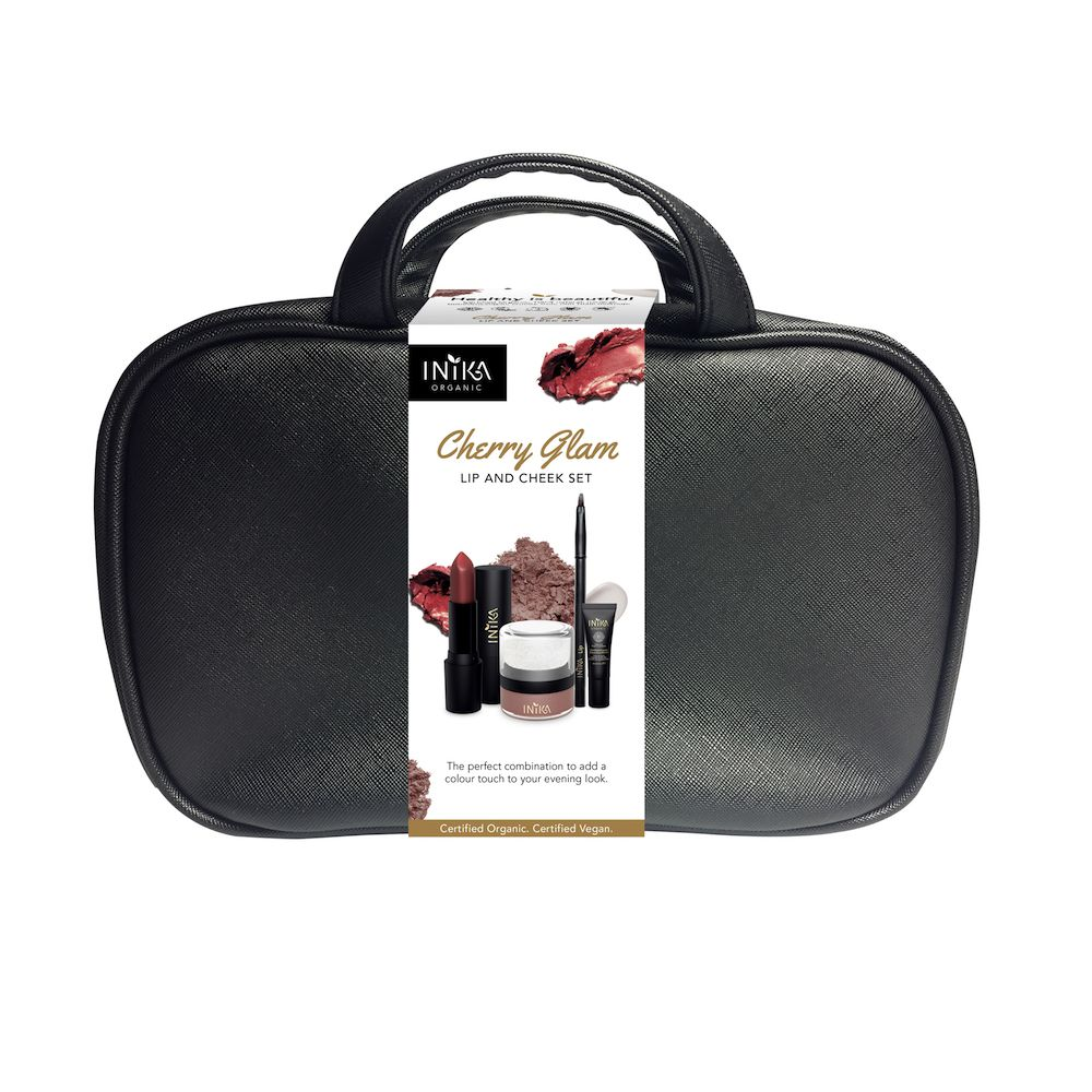 INIKA Makeup Lip and Cheek Set - Cherry Glam