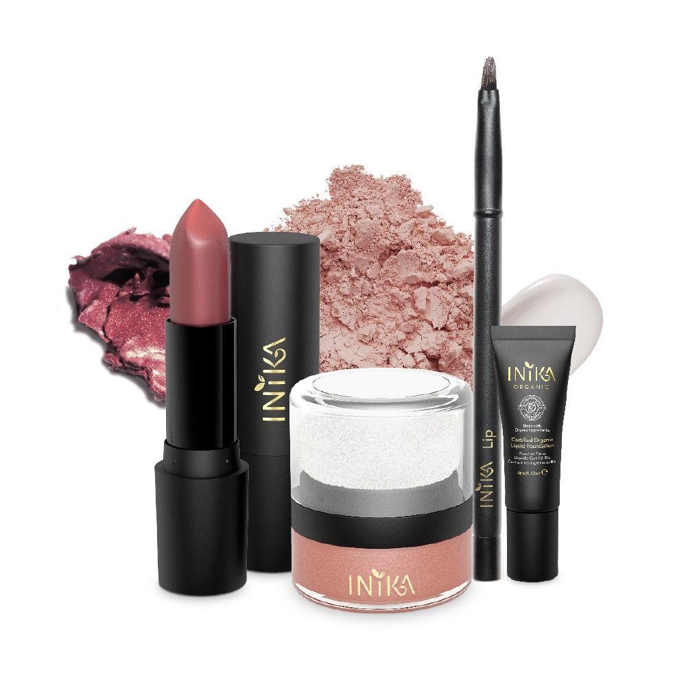 INIKA Makeup INIKA Lip and Cheek Set - Pretty in Pink