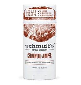 Schmidt's Deodorant Stick Cedarwood & Juniper