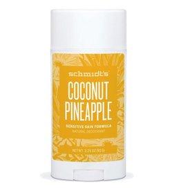 Schmidt's Deodorant Deodorant Stick Sensitive Skin Coconut Pineapple
