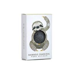 Konjac Sponge Mini Sloth charbon de bambou