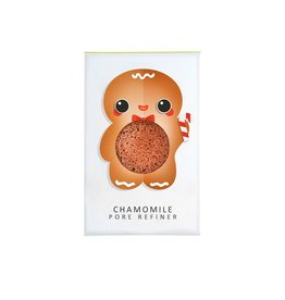Konjac Sponge Mini Gingerbread Man Face Puff Chamomile
