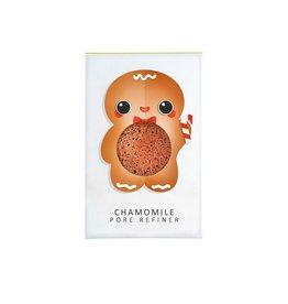 Konjac Sponge Mini Gingerbread Man visage Puff Camomille