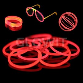 GLOWIT 100 glow armbandjes Rood