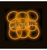 Glowit 100 bracelets lumineux - 200mm x 5mm - Orange