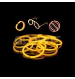 Glowit 100 glow bracelets - 200mm x 5mm - Orange