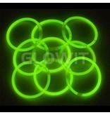 Glowit 100 bracelets lumineux - 200mm x 5mm - Vert