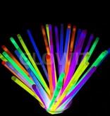 Glowit 100 bracelets lumineux - 200mm x 5mm - Mix