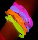 Glowit 100 glow armbanden - 200mm x 5mm - Mix