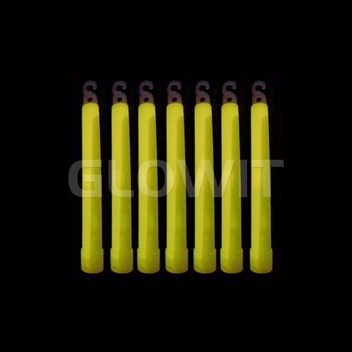 Glowit 25 Bâtons lumineux - 150mm x 15mm - Jaune