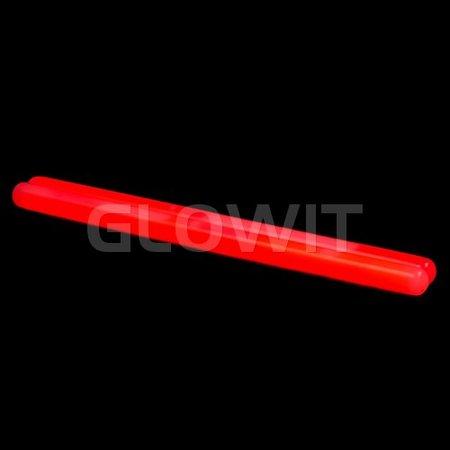 Glowit 10 Bâtons lumineux - 250mm x 15mm - Rouge