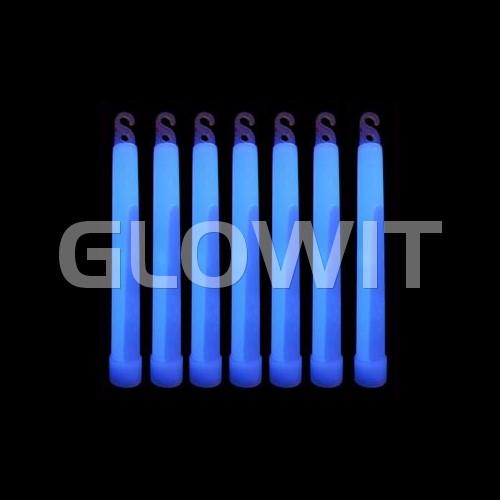 Glowit 25 Bâtons lumineux - 150mm x 15mm - Bleu