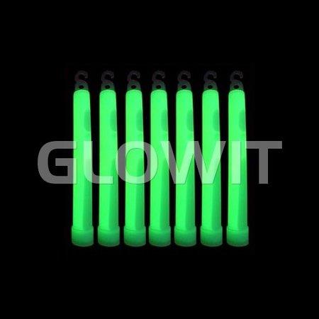 Glowit 25 glowsticks - 150mm x 15mm - Green