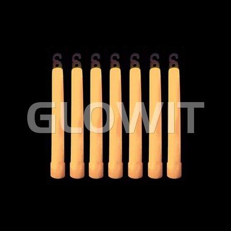 Glowit 25 Bâtons lumineux - 150mm x 15mm - Orange