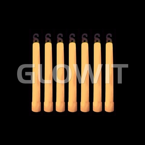 Glowit 25 glowsticks - 150mm x 15mm - Orange