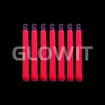 25 Bâtons lumineux 150mm Rouge