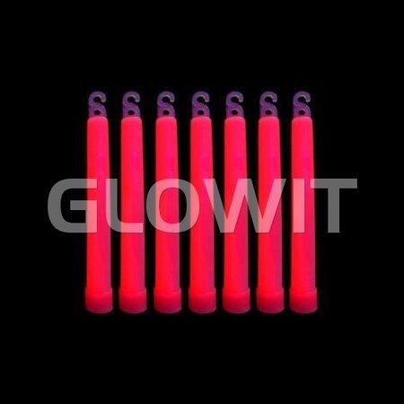 Glowit 25 Bâtons lumineux - 150mm x 15mm - Rouge