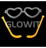 Glowit 25 Hartjes bril connectors (Zonder sticks)