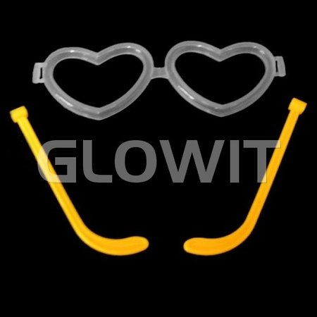Glowit 25 Heart shaped glass connectors (Without sticks)