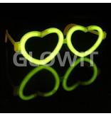 Glowit 25 Connecteurs pour lunettes lumineuses Coeur (Sans bâtons)