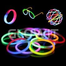 100 glow armbandjes Mix