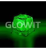 Glowit Led ijsblokje - 30mm x 30mm x 30mm - Groen