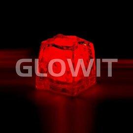 GLOWIT Led ijsblokjes Rood