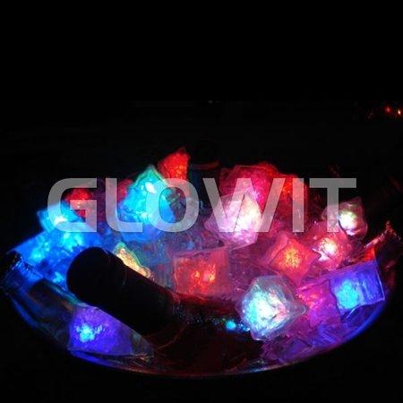 Glowit Glaçon LED - 30mm x 30mm x 30mm - jaune
