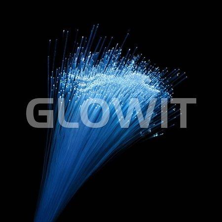 Glowit Bâtons LED fibre optique - 400mm x 10mm - multicolore