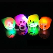 Flashing LED smiley ring